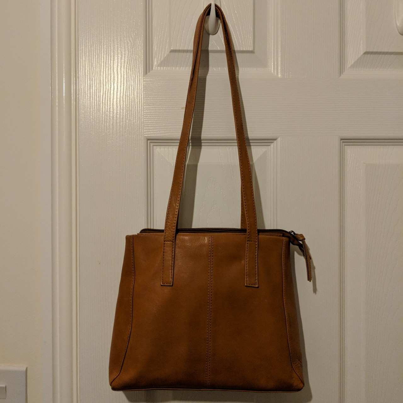 new product shoes for cheap search for authentic Brown soft leather bag. Bought from TK Maxx.... - Depop