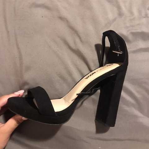 1d7d7b49dfc Fashion Nova  Your biggest Fan Heels  Worn Once Size 6.5 - Depop