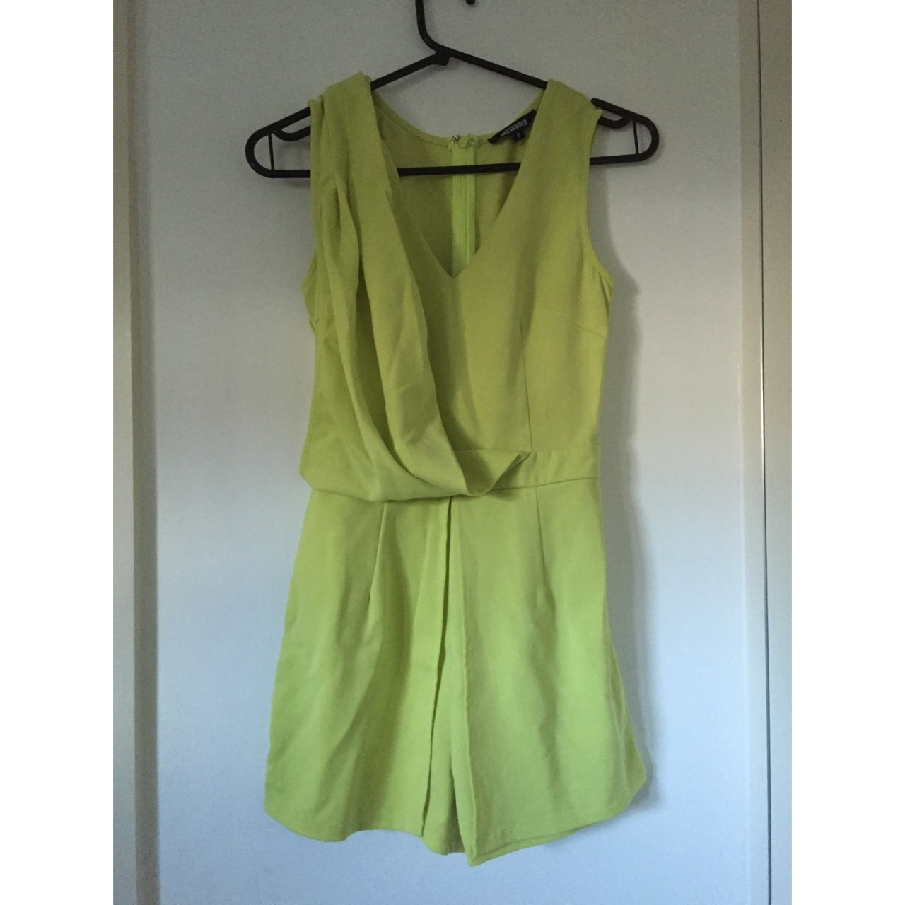 d1a1e46120 Missguided unique style playsuit in like green. US 4  UK 8. - Depop