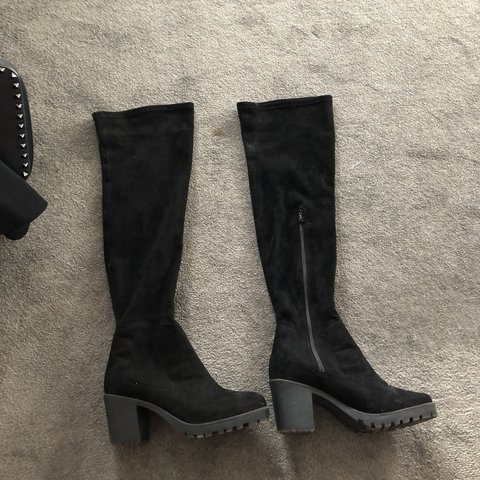 861c537aa29 Black Knee high boots size 6. Hardly ever worn so perfect in - Depop