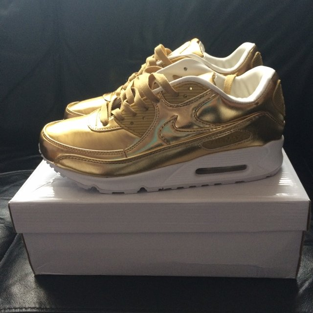 uk availability c9ccb 101e2  mickael69. 5 years ago. London, United Kingdom. Brand new nike air max 90  prm tape liquid gold ...