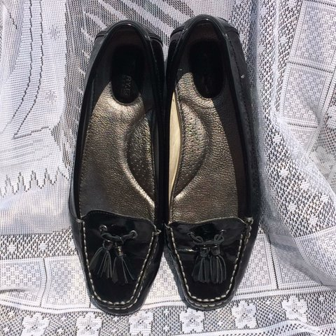 19439e70656 Sperry Top-Siders black patent leather slip on Loafers With - Depop