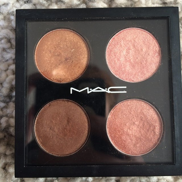 Mac Palette. Four Shades, Amber Lights, Gleam, Bronze, Used   Depop