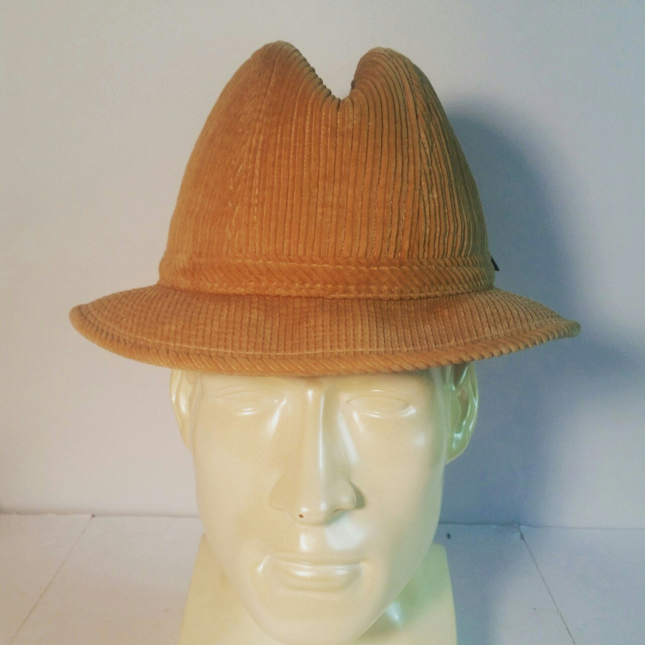 London Fog Fedora for Men Vintage 1980s. Brown Corduroy. - Depop f487ad86906