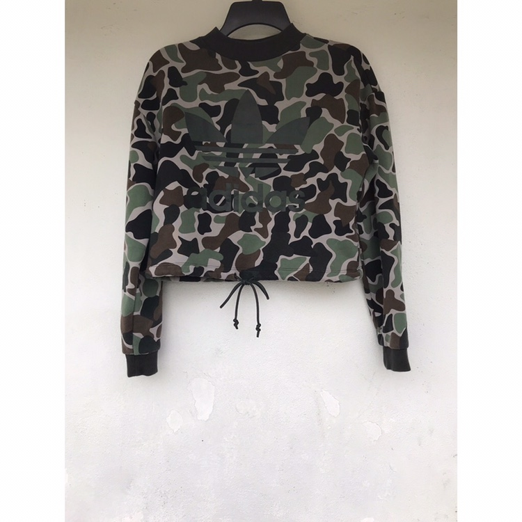sports shoes 89864 7f6d6 Camo Adidas Crewneck Pullover Sweatshirt Hold for... - Depop
