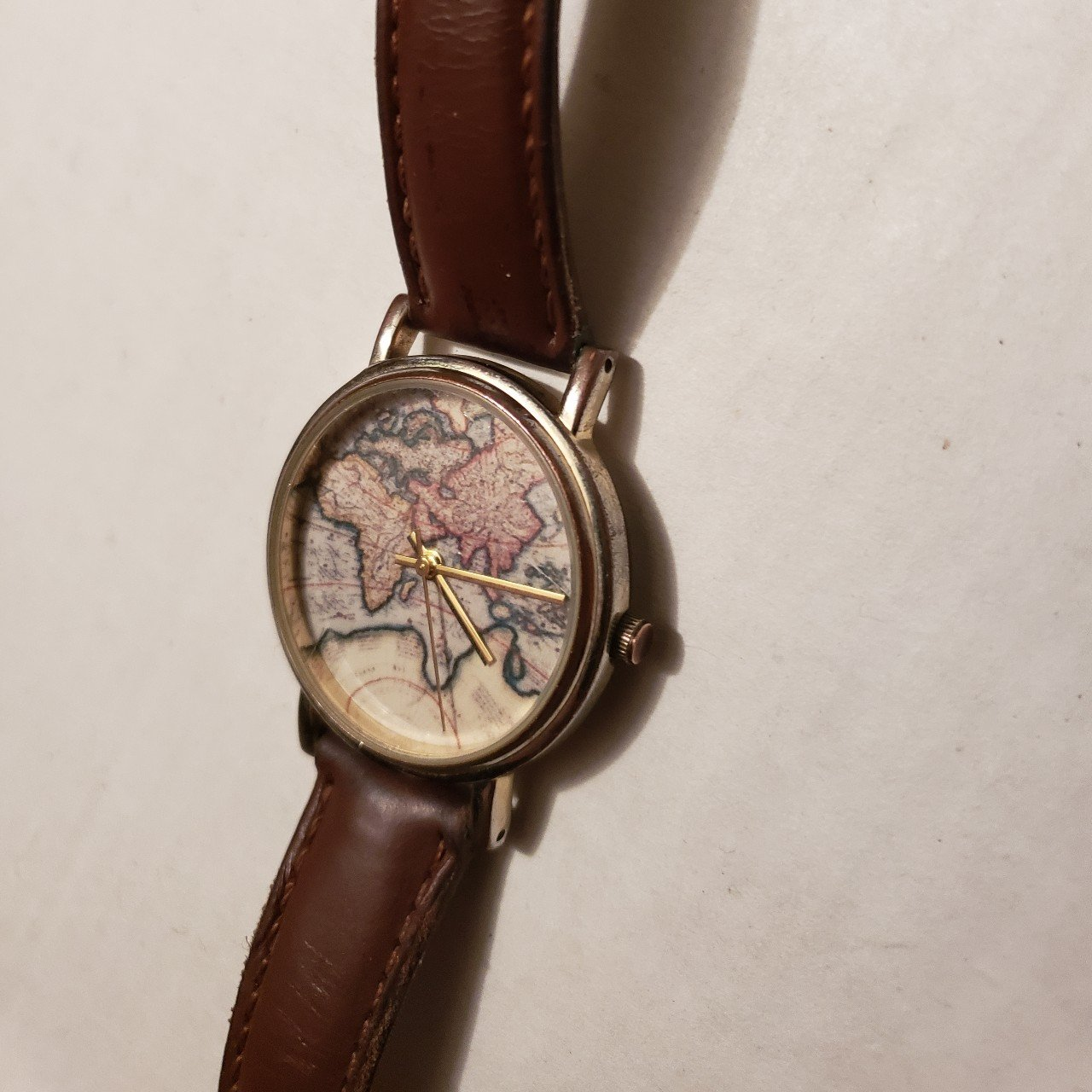 Urban Outfitters World Map Watch.World Map Watch Bought At Urban Outfitters Battery Is Dead Depop