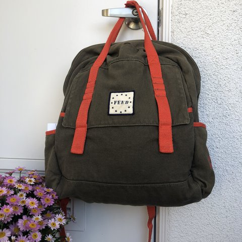 3e56700c95cf Feed brand backpack in good condition. No signs of use. Is - Depop