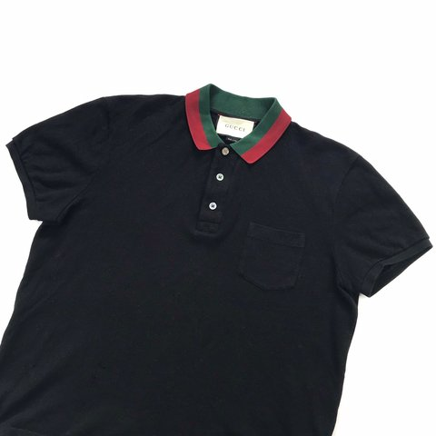 70047930 @fordgarmz. last month. United Kingdom. Authentic Gucci Polo Shirt with the  Classic Green & Red Collar