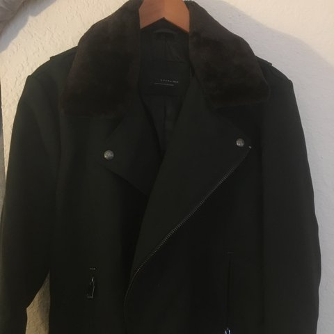 2c54aa8e @brianhmatthews. 4 months ago. United States. Zara Man Black Tag military  style winter coat ...