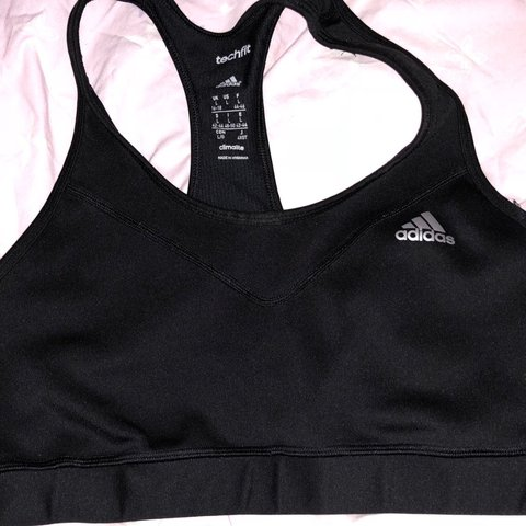 6a675cc4d0846 Adidas sports bra Size adult large (16-18) Never worn as too - Depop
