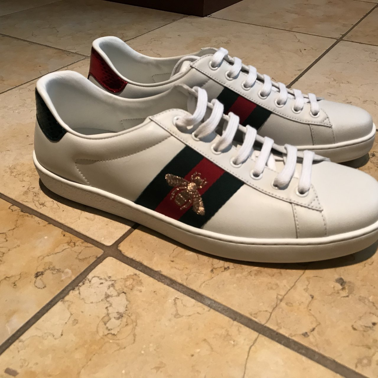 e0749dfc422 Men s Gucci Low top sneakers. 100% never warm. 100% and real - Depop