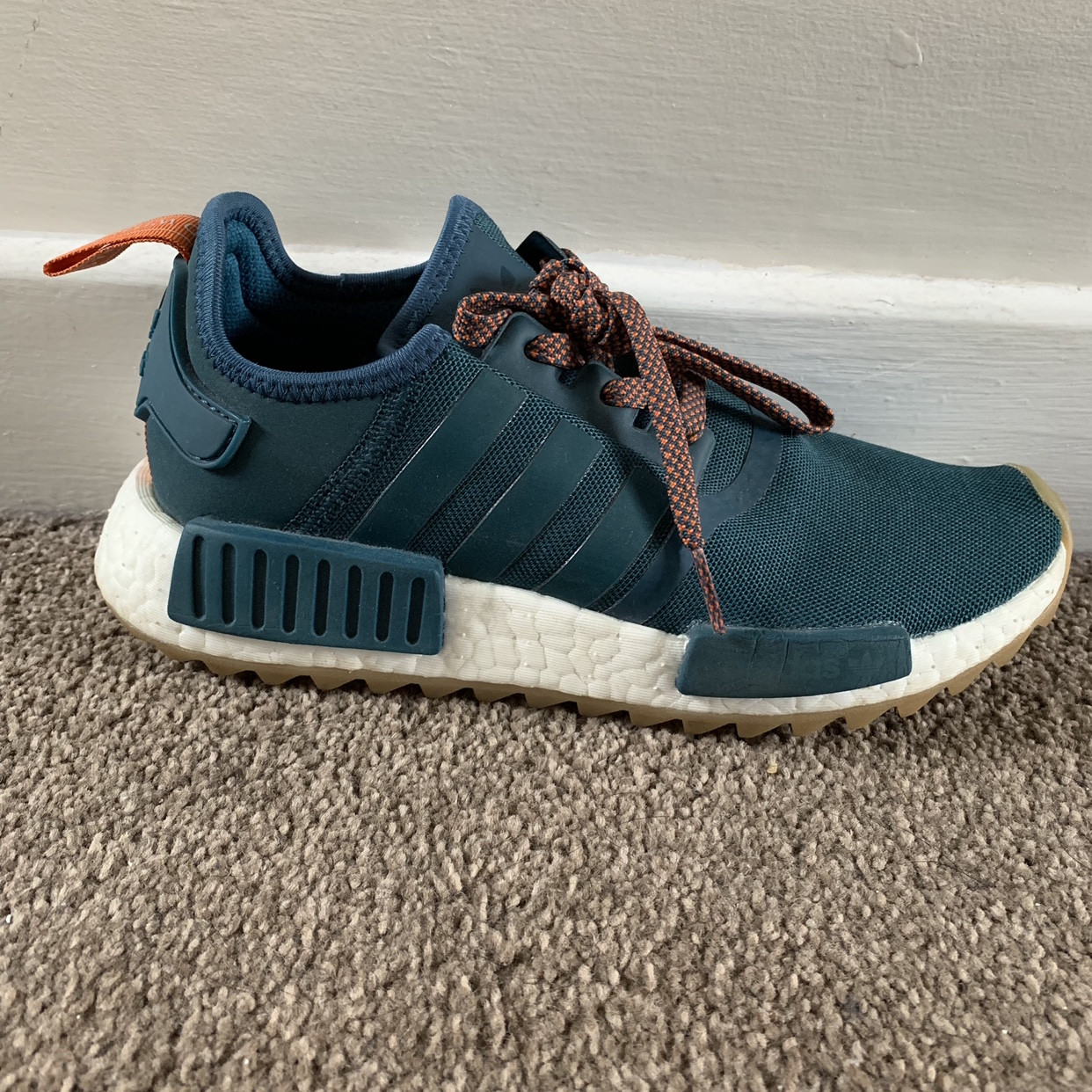 Adidas NMD R1 Trail Green. Size 5. Open to offers Depop