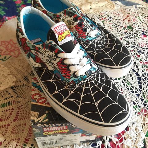 Spider-Man Vans Men s 9.5 Womens 11 Vans Era Limited shoe - Depop 9aa9285a7
