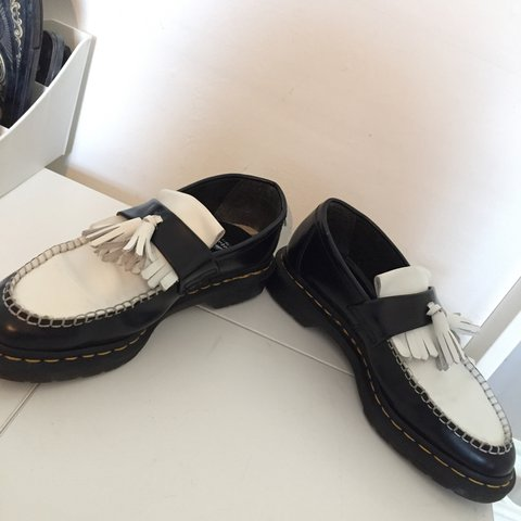 "16f04dbaefe rare dr martens black and white unisex ""adrian smooth"" in so - Depop"