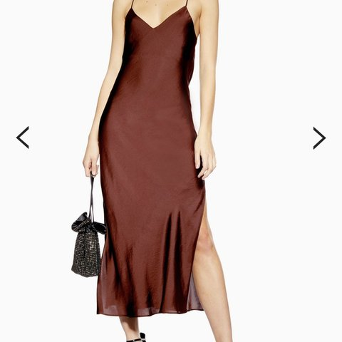 81b930797d2f @ktallpress. 3 months ago. Cambridge, United Kingdom. Topshop plain satin silk  dress, only worn once on new year. Size 8 ...