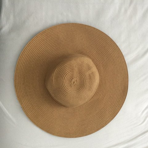 0e9c5fcff49d3 charming Charlie s straw sun hat. Second picture is the brim - Depop