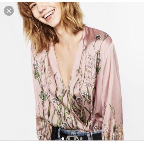 c5e4410383865 REDUCED  Selling my Zara pink silk blouse   bodysuit