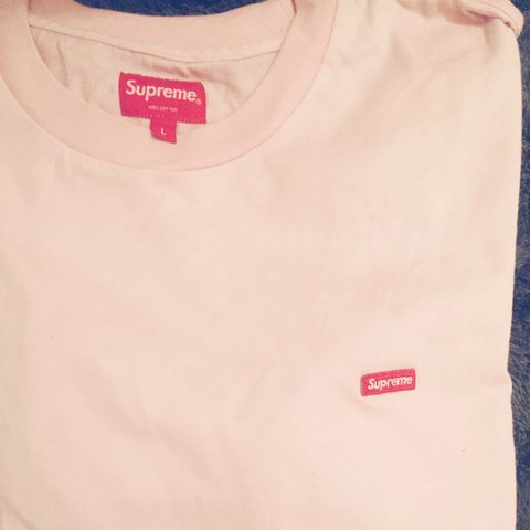 Pink Supreme Mini Bogo Box Logo T Shirt Tee Size Large Good Depop