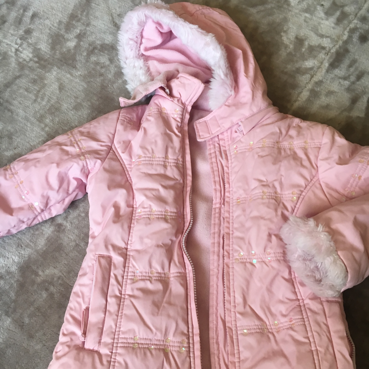 variety design high quality amazing price Pink kids coat from Matalan Age: 6/7 Used to be a... - Depop