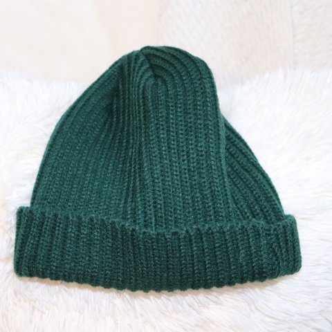 597a9591dc1 Warm cable knitted cap hat beanie Forest green Never worn - Depop