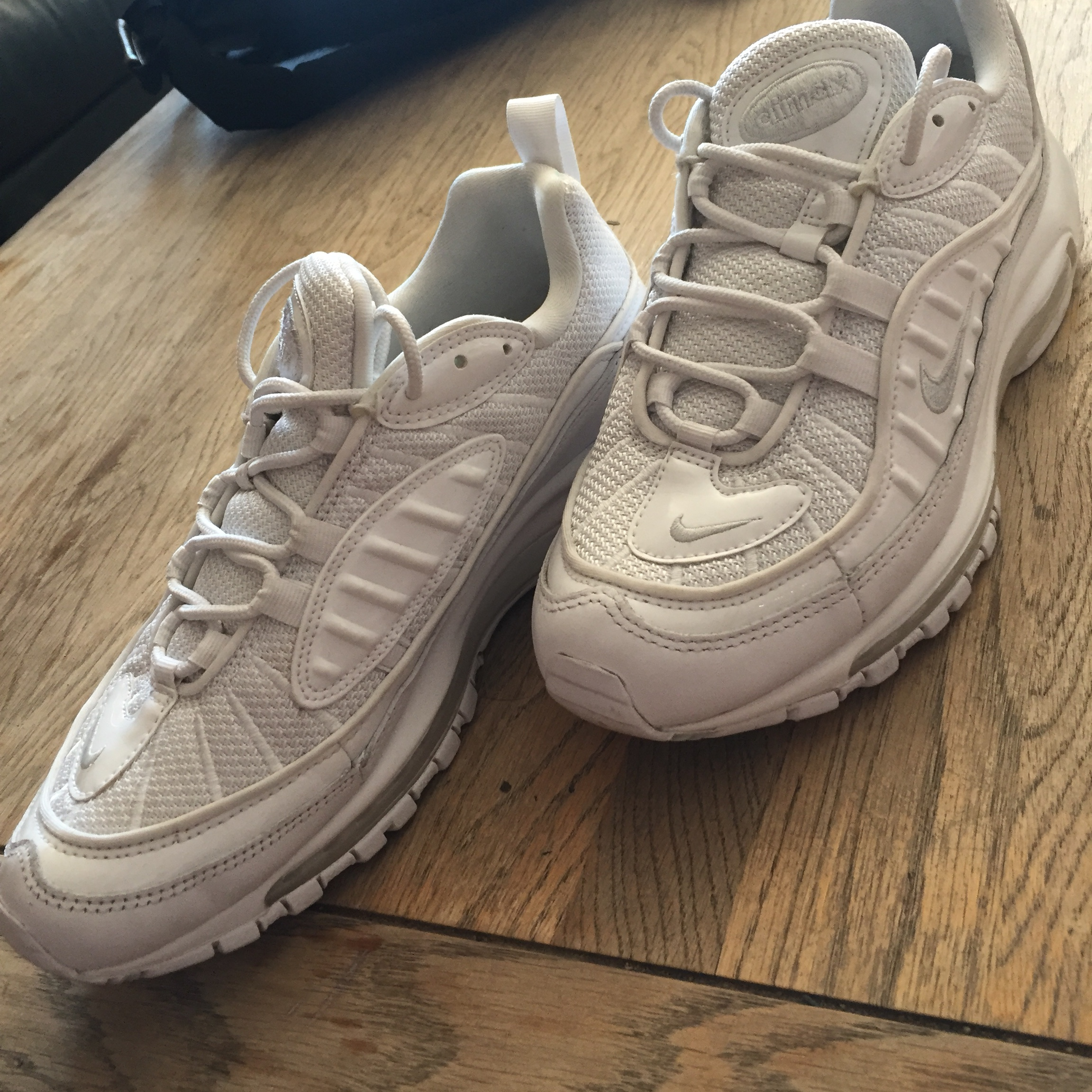 separation shoes bb9cf 4237d RARE DEADSTOCK Triple white nike air max 98... - Depop
