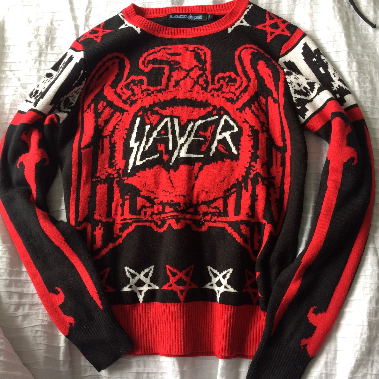 Heavy Metal Christmas.Heavy Metal Christmas Jumper By Slayer Size Small Depop