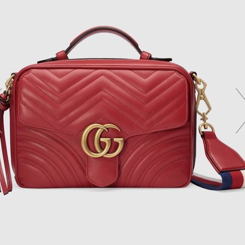 87294dfd0063 @myanb. 5 months ago. Boston, United States. Authentic Red Gucci Marmont Bag  ...