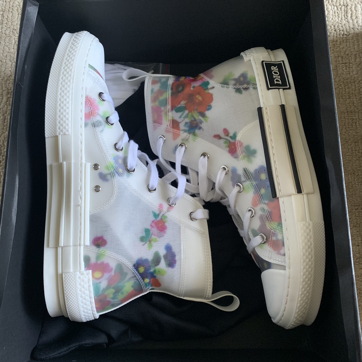 Dior B23 Floral Sneakers. Brand new