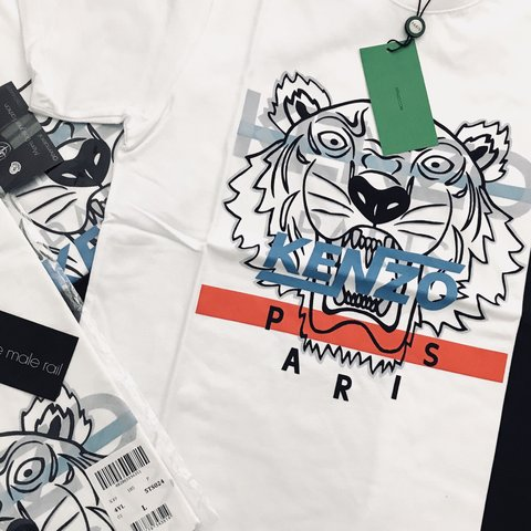 920d4603 @themalerail. 6 months ago. United Kingdom. KENZO • Hyper Tiger T-Shirt • Crew  Neck • Short ...