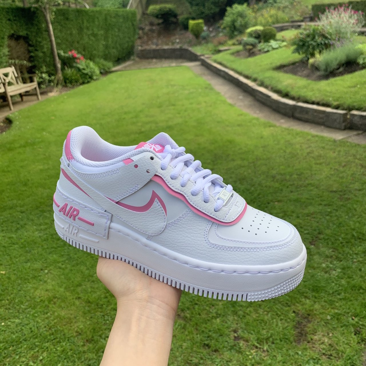 Air Force 1 Pink Shadow Size 4 Pink Flamingo White Depop