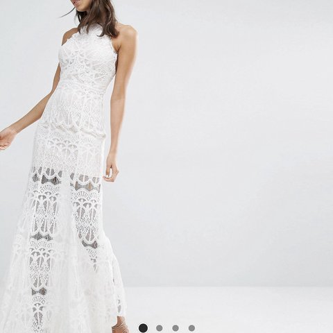 7420d9b8fe2 Brand new with tags. Beautiful cream lace maxi dress. - Depop