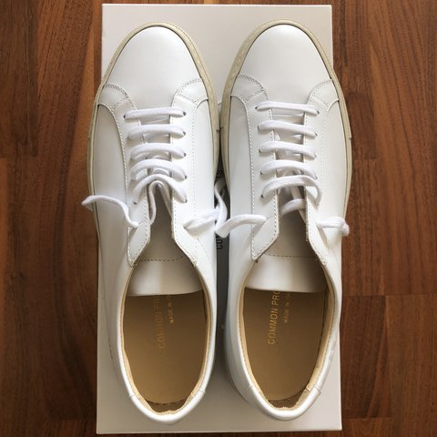 eecb445ae5f6 Common Projects - Achilles Low w  Colored Sole White Off   - Depop