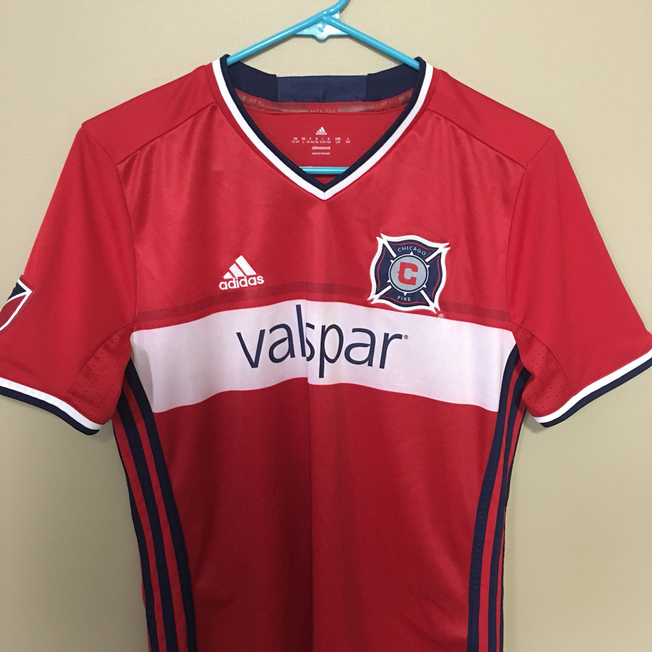 31deebbe0 ADIDAS CHICAGO FIRE MLS JERSEY YOUTH ⚽ SIZE LARGE - Depop