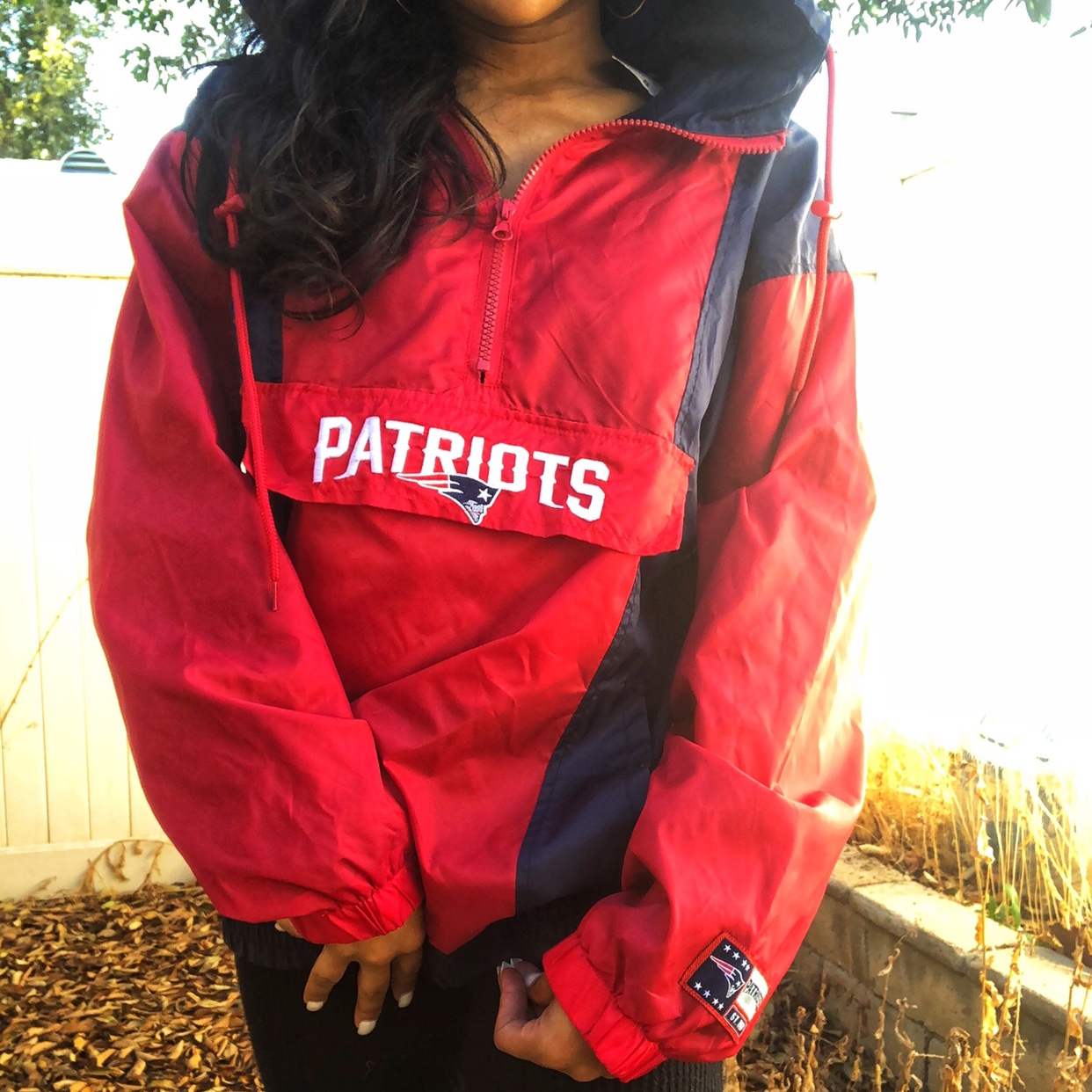 purchase cheap 6407e fc116 RESERVED 😍 NEW ENGLAND PATRIOTS WINDBREAKER, NFL... - Depop