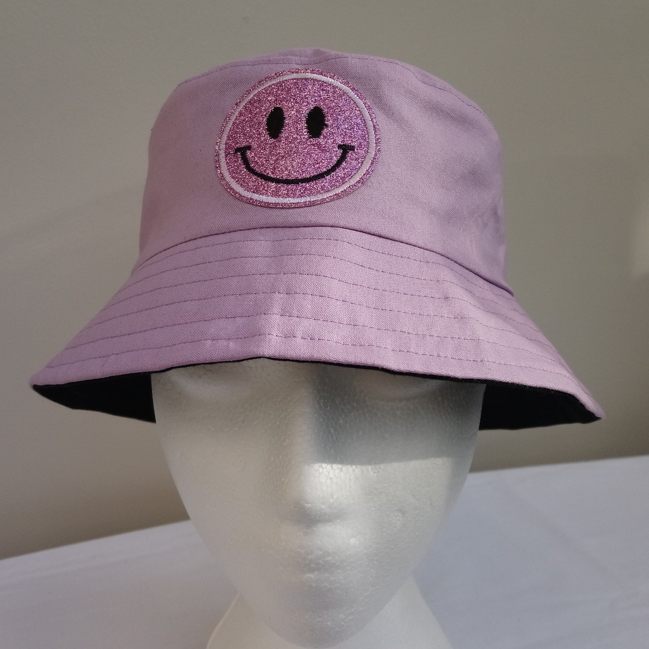 e761bc25b Unique reversible bucket hat in a pale lilac with a... - Depop