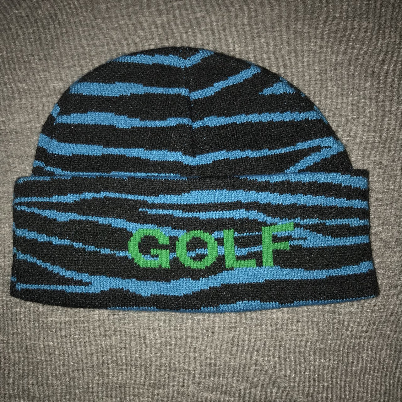 GOLF Blue Tiger Beanie ! Haven t used it cause I dont look - Depop f66127be0cd