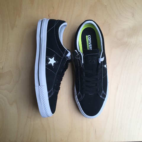 a2dce08cce2bbc Converse CONS One Star Pro in Original Black White with NIKE - Depop