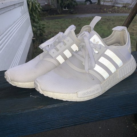 bcf3c7320 adidas white nmds usa mens 9 very good condition before - Depop