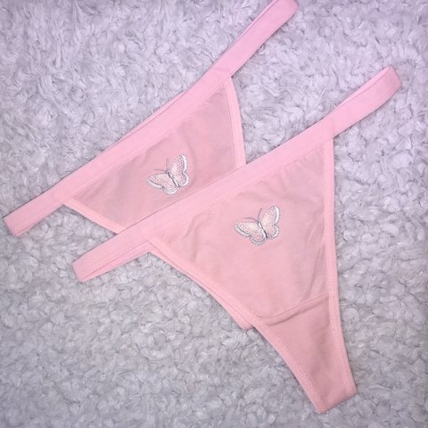 35d34cc84c54 Pink Butterfly Baby thong 💕 Handmade adorable pink thong - Depop