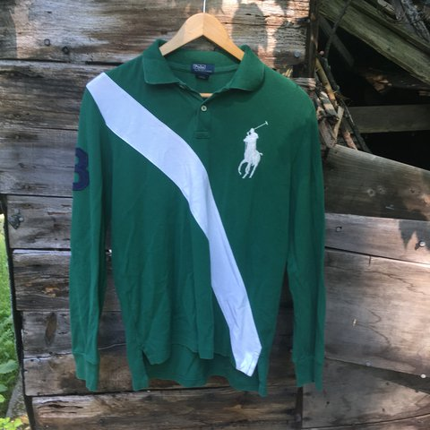 2f4e47ae0 Vintage Polo Ralph Lauren Big Pony Long Sleeve Polo Youth a - Depop