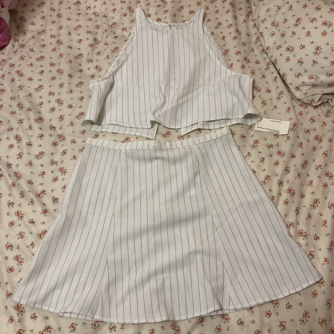 f8b8cac9cc American Apparel Lulu top and Lolita skirt in white with The - Depop