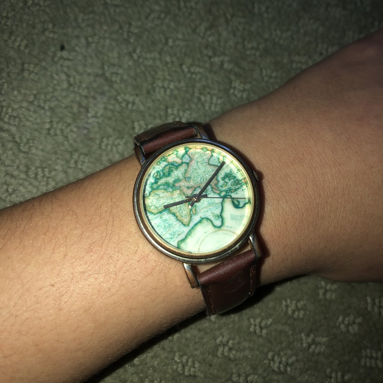 Urban Outfitters World Map Watch.Urban Outfitters Map Watch Only Worn A Few Times So It S Ok Depop
