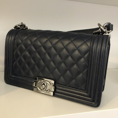 8b7055a395d781 Chanel boy bag in fair condition. Wear to corners and some - Depop
