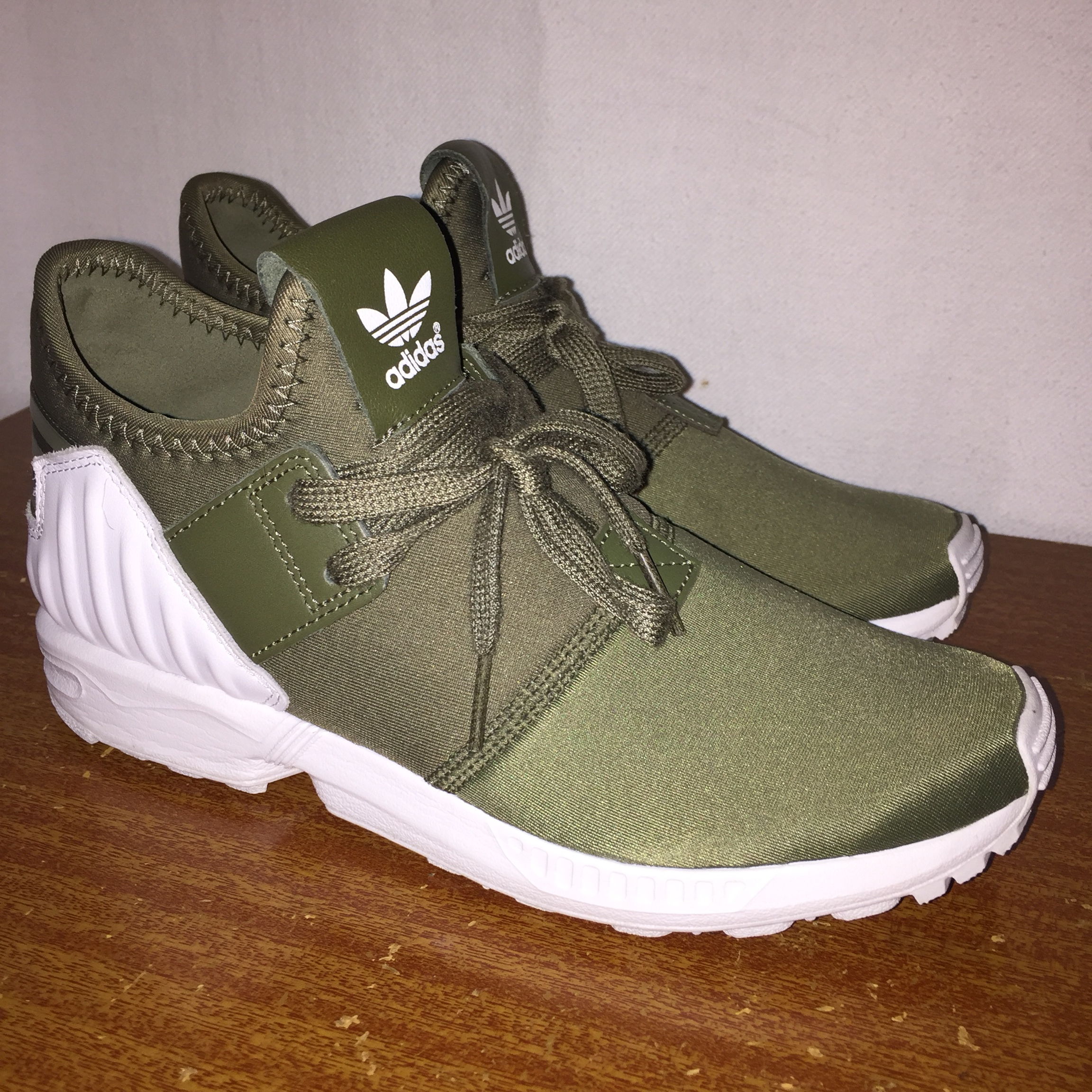 reputable site 5f526 d1735 Adidas zx flux plus olive green size woman's 5 never... - Depop
