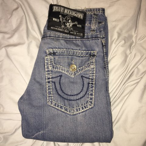 5638639a1 Men s genuine True Religion Jeans Bobby BigT collection 34 - Depop