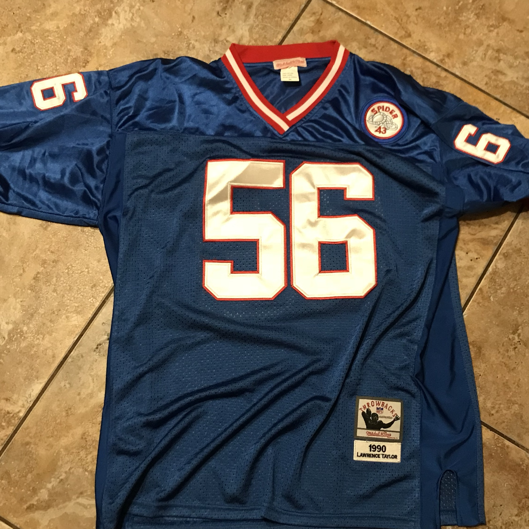 new style 28053 7fb20 Ny Giants Mitchell & Ness Lawrence Taylor Throwback ...