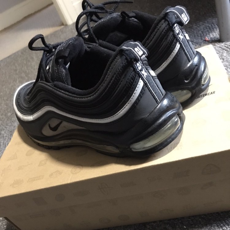 Mens Used Nike Air Max 97 Black Reflective 2006 Open Depop