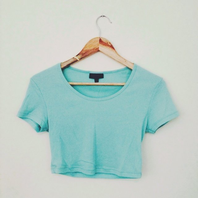 ccb8d7a7bcb3e9 Mint green  turquoise crop top from Topshop