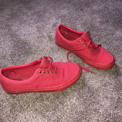 All red mono vans. Low top. Worn a few times f464fbbff