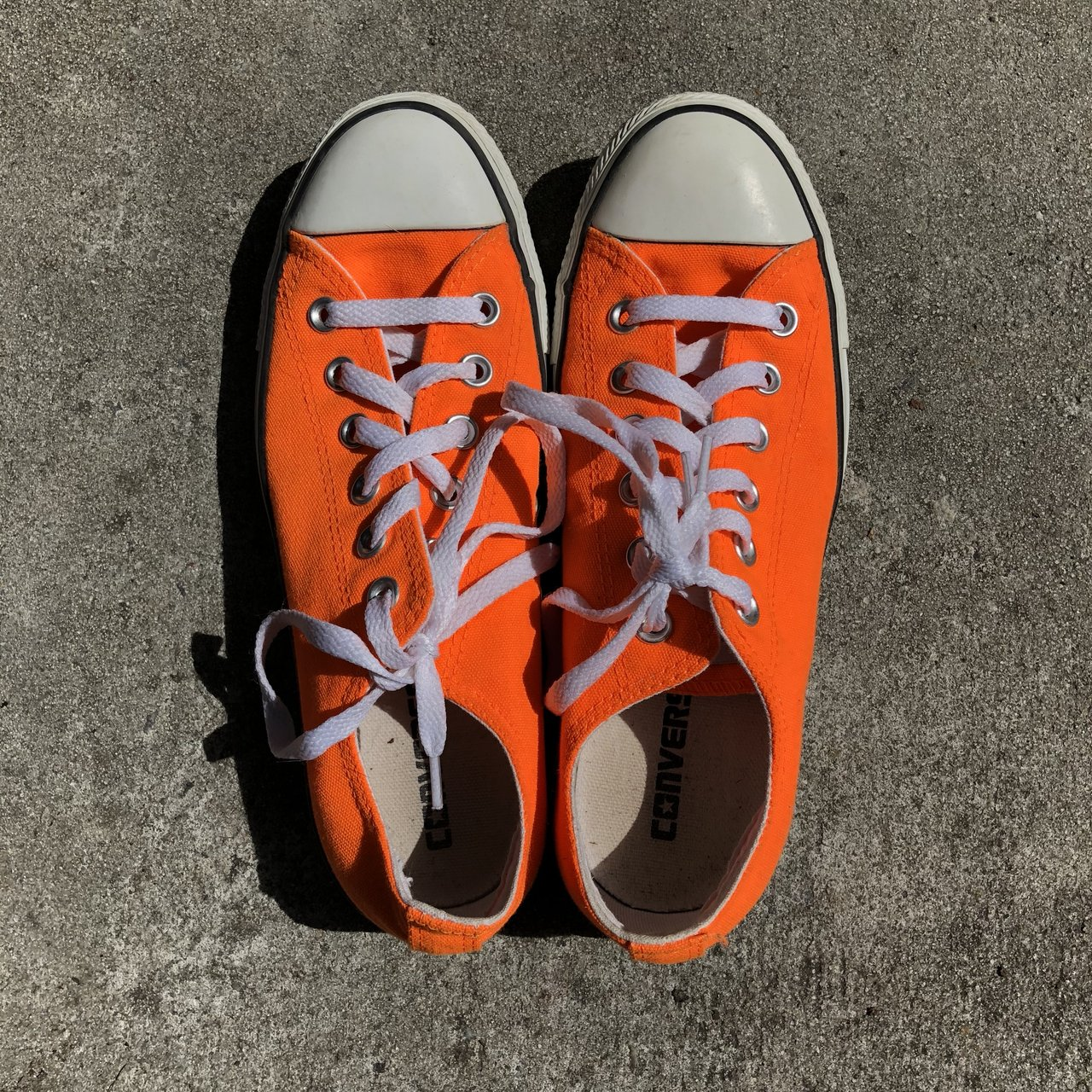 NEON Orange 🍊Converse All-Stars! They are in EXCELLENT They - Depop ad134452be62